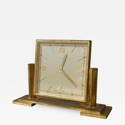 Tiffany and Co Vintage Tiffany and Co Square Brass Desk Clock 1970s