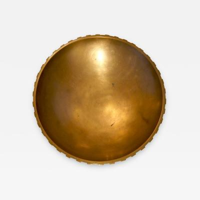 Tinos Large Art Deco Bowl Centerpiece in Patinated Bronze by Tinos