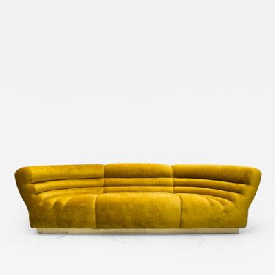 Todd Merrill Custom Originals Todd Merrill Custom Originals Channel Tufted Racetrack Sofa Sectional