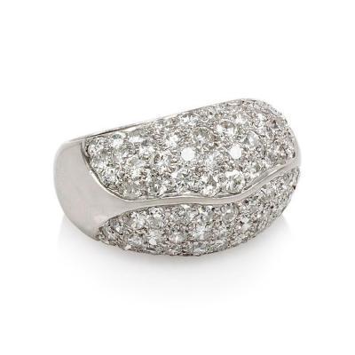 Trabert Hoeffer Mauboussin 1940s Trabert Hoeffer Mauboussin Pav Diamond Ring