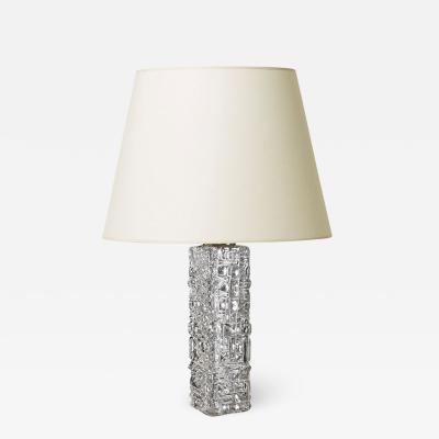 Tran s Stilarmatur AB Table lamp with relief texture by Tran s Stilarmatur AB