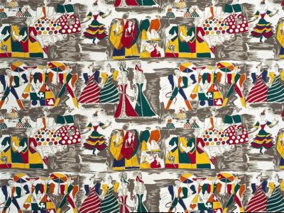Tre 80 Gio Ponti Designed Balletto alla Scala Fabric by Tre 80 multicolor