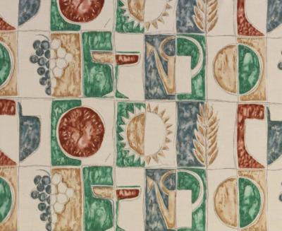 Tre 80 Gio Ponti Designed Estate Summer Fabric by Tre 80