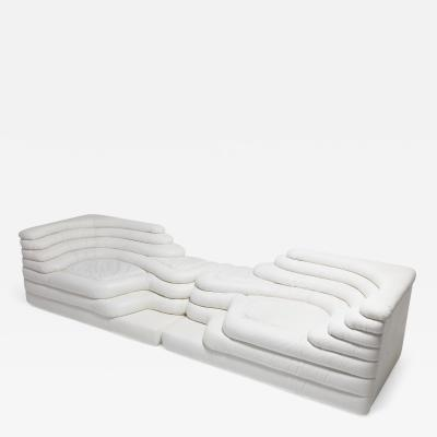 Ubald Klug Ueli Berger De Sede Terrazza Sofas DS 1025 in White Leather by Ubald Klug Ueli Berger