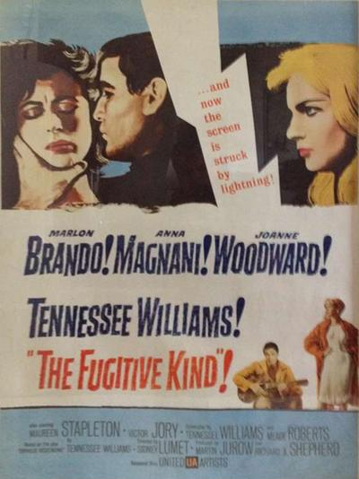 United Artists Original The Fugitive Kind Movie Poster