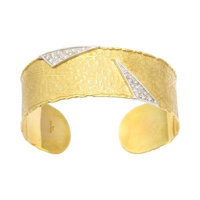 UnoAErre 18 kt UnoARerre Diamond Cuff