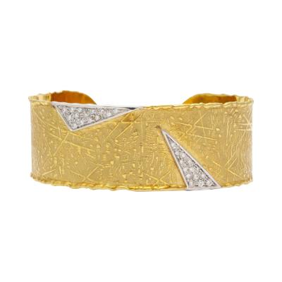 UnoAErre UnoAErre Diamond and Gold Cuff
