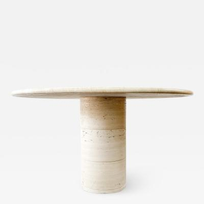 Up Up Up Up Travertine Dining Table