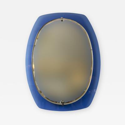 VECA Mid Century Klein Blue Mirror by Veca