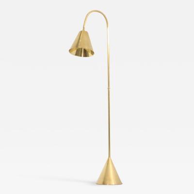 Valenti Brass Floor Lamp by Valenti Spain 1950s