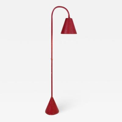 Valenti Spain Elegant standing lamp in red leather