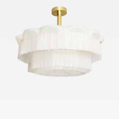 Valinte OY VALINTE OY J LASIA ICE GLASS ACRYLIC Lamp 1972 FINLAND Scandinavian Modern