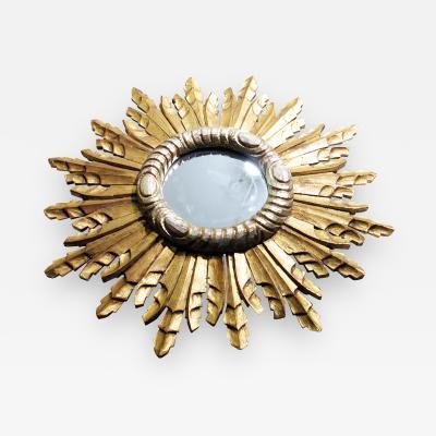 Vallauris French 20th Century Sunburst Mirror