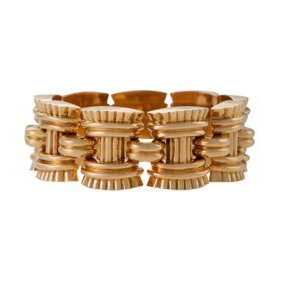 Vallienne Paris French Retro Gold Link Bracelet by Vallienne Paris