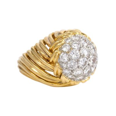 Van Cleef Arpels 1950s Van Cleef Arpels Gold and Diamond Ring