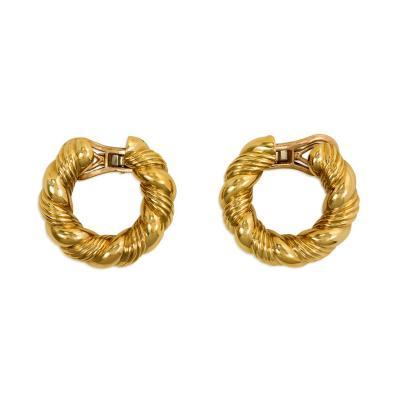 Van Cleef Arpels 1970s Van Cleef Arpels Gold Hoop Earrings