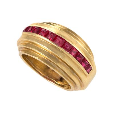 Van Cleef Arpels Art Deco Ruby and Platinum Ring