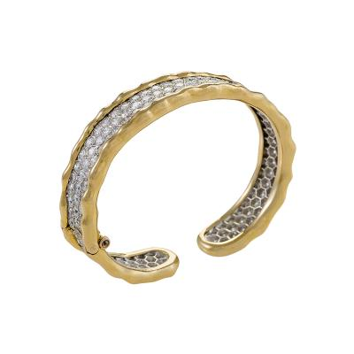 Van Cleef Arpels Gold Bangle Bracelet with Diamonds by Van Cleef Arpels