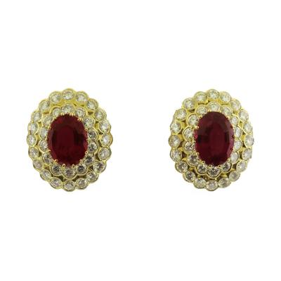 Van Cleef Arpels Rubelite Diamond Earrings