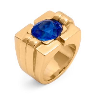 Van Cleef Arpels Sapphire 18K Gold Ring by Van Cleef Arpels