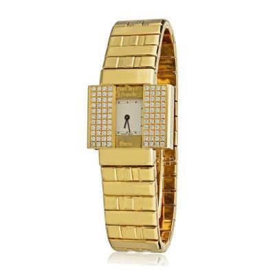 Van Cleef Arpels VAN CLEEF ARPELS 18K YELLOW GOLD DOMINO 39 DIAMOND BRACELET HIDDEN WATCH