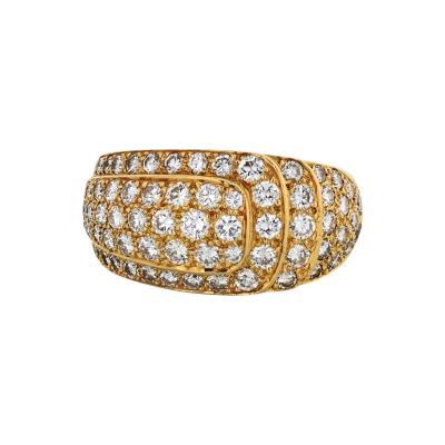 Van Cleef Arpels VAN CLEEF ARPELS 1980S 18K YELLOW GOLD PAVE 3 00CTTW DIAMOND RING