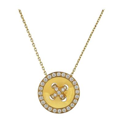 Van Cleef Arpels VAN CLEEF ARPELS BOUTONNIERE 18K YELLOW GOLD DIAMOND PENDANT