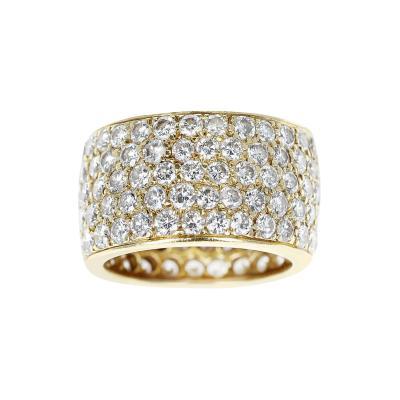 Van Cleef Arpels VAN CLEEF ARPELS FIVE ROW 6 70 CARAT DIAMOND BAND WITH ORIGINAL BOX 18K GOLD