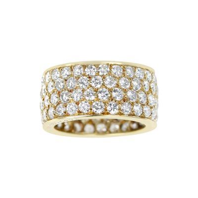 Van Cleef Arpels VAN CLEEF ARPELS FOUR ROW DIAMOND BAND 18K YELLOW GOLD