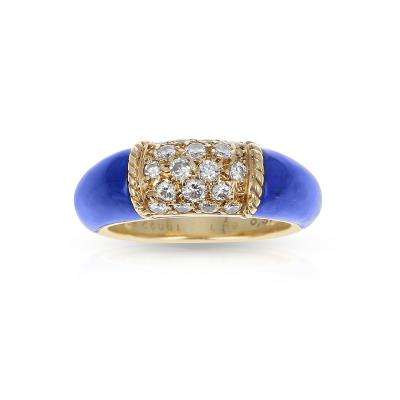 Van Cleef Arpels VAN CLEEF ARPELS LAPIS AND 5 ROW DIAMOND STACKING PHILIPPINE RING 18K YELLOW