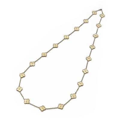 Van Cleef Arpels VCA Gold Alhambra Twenty Clover Necklace