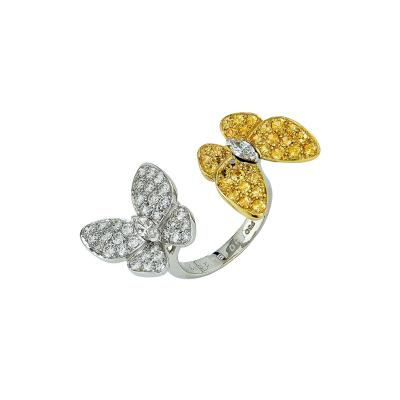 Van Cleef Arpels VCA Two Butterfly Between the Finger Ring V18550