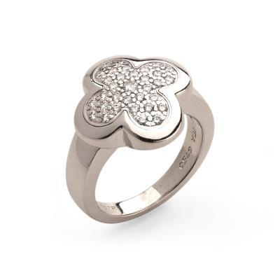 Van Cleef Arpels Van Cleef Arpels Alhambra Gold Diamond Ring