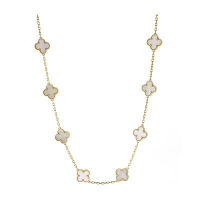 Van Cleef Arpels Van Cleef Arpels Alhambra Mother of Pearl Yellow Gold 20 Motif Necklace