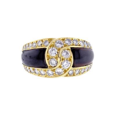 Van Cleef Arpels Van Cleef Arpels Black Onyx and Diamond Ring