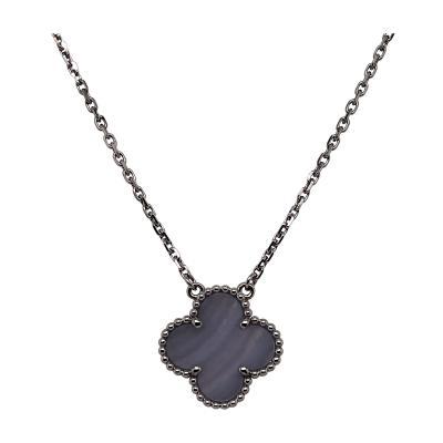 Van Cleef Arpels Van Cleef Arpels Chalcedony Alhambra necklace