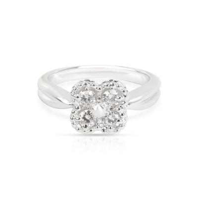 Van Cleef Arpels Van Cleef Arpels Clover Perlee Diamond Ring in 18K White Gold 0 4 CTW
