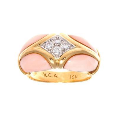 Van Cleef Arpels Van Cleef Arpels Coral Diamond Gold Ring
