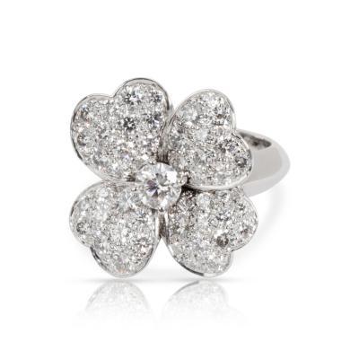 Van Cleef Arpels Van Cleef Arpels Cosmos Flower Diamond Ring in 18K White Gold 1 85 CTW