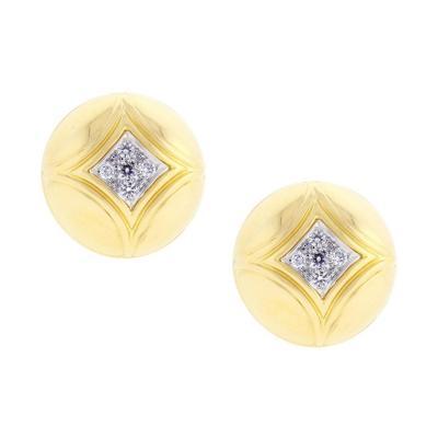 Van Cleef Arpels Van Cleef Arpels Diamond Gold Dome Earrings