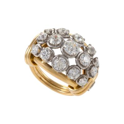 Van Cleef Arpels Van Cleef Arpels Diamond Gold and Platinum Bomb Ring
