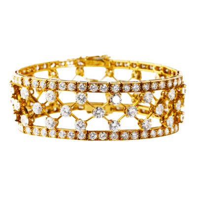 Van Cleef Arpels Van Cleef Arpels Diamond and Gold Snowflake Bracelet