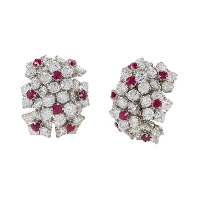 Van Cleef Arpels Van Cleef Arpels Diamond and Ruby Earrings