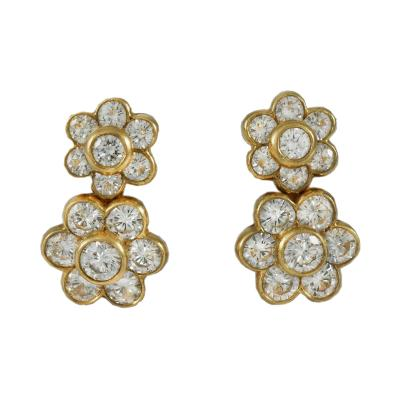 Van Cleef Arpels Van Cleef Arpels Double Flower Earrings