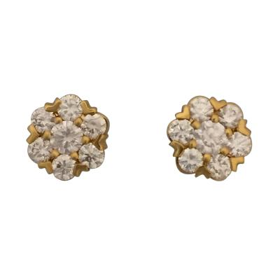 Van Cleef Arpels Van Cleef Arpels Fleurette Diamond Stud Earrings