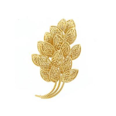 Van Cleef Arpels Van Cleef Arpels Gold Leaf Brooch