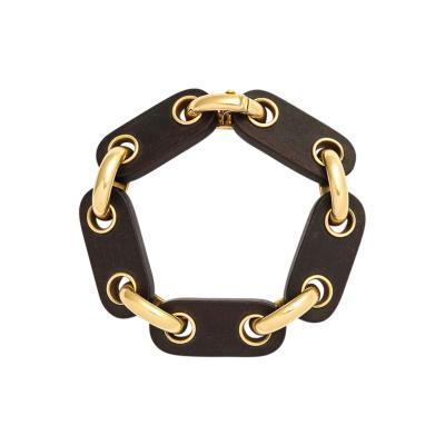 Van Cleef Arpels Van Cleef Arpels Gold Wooden Bracelet