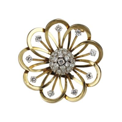 Van Cleef Arpels Van Cleef Arpels Gold and Diamond Brooch