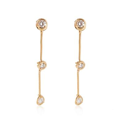 Van Cleef Arpels Van Cleef Arpels La Pluie Diamond Drop Earrings in 18K Yellow Gold D VVS1 1
