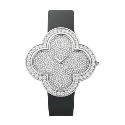 Van Cleef Arpels Van Cleef Arpels Ladies White Gold Diamond Alhambra Talisman Quartz Wristwatch
